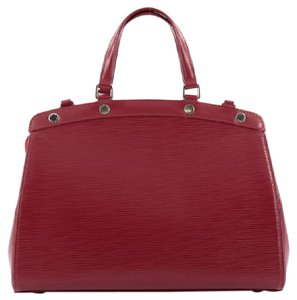 Louis Vuitton Leather Tote in Red