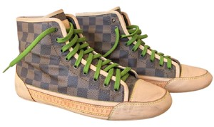 Louis Vuitton High Top Sneakers Damier Ebene Brown Athletic