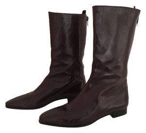 Manolo Blahnik dark brown Boots