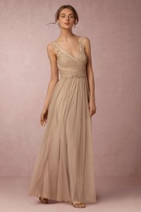 BHLDN Sandstone Nylon Tulle Lace; Polyester Lining Fleur Vintage Bridesmaid/Mob Dress Size 0 (XS)