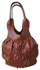 Henry Beguelin Leather Leaf Tote in Brown