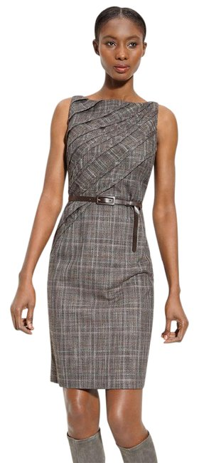 Preload https://item5.tradesy.com/images/classiques-entier-brown-new-allsorts-plaid-short-workoffice-dress-size-12-l-20622359-0-1.jpg?width=400&height=650