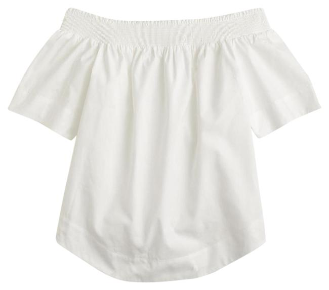 Preload https://item1.tradesy.com/images/jcrew-white-cotton-off-the-shoulder-blouse-size-12-l-20622365-0-1.jpg?width=400&height=650