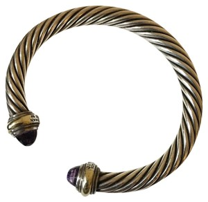 David Yurman 7mm Classic Bracelet with Amethyst and 14K Gold