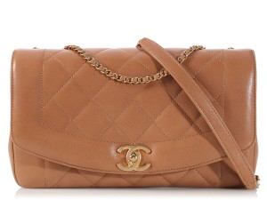 Chanel Tan Cc Quilted Ch.k1128.06 Brown Shoulder Bag