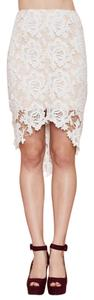 Keepsake the Label Lace Crochet Pencil Two-tone Hi Lo Skirt