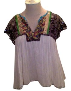 Free People Sequence Lace Patterned Free-flowing Top Multi