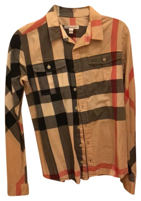 Preload https://img-static.tradesy.com/item/20622509/burberry-black-red-and-tan-botton-up-shirt-button-down-top-size-4-s-0-1-650-650.jpg