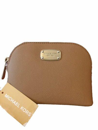 Michael Kors Centre Stripe Camel Gold Silver/ khaki Travel Bag