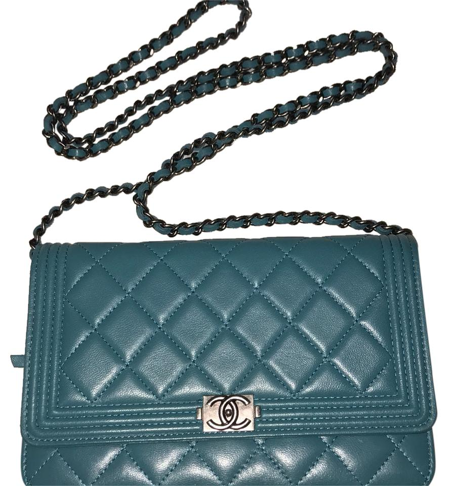 c41c076cf67156 Chanel Boy Quilted Woc Teal Lambskin Cross Body Bag - Tradesy