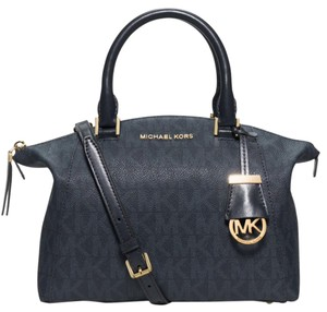 MICHAEL Michael Kors Satchel in Baltic Blue Monogram