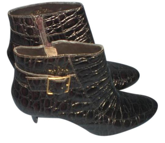Preload https://item4.tradesy.com/images/talbots-dark-brown-croco-embossed-leather-ankle-b-bootsbooties-size-us-8-20622623-0-1.jpg?width=440&height=440