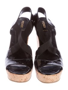 Fendi Sandals BLACK Wedges