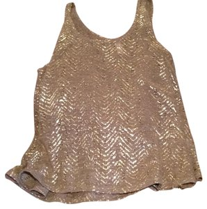 Xhilaration Top taupe with gold