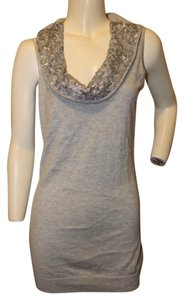 Magaschoni Sequin Cowl Neck Sleeveless Sweater