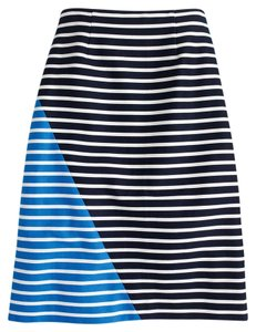 J.Crew Striped Colorblock Navy Skirt Multi