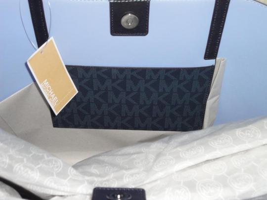 Michael Kors Hayley Large Tote in Baltic Blue/Light Sky