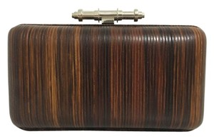 Givenchy Minaudiere Evening Cocktail Wood / Black Clutch