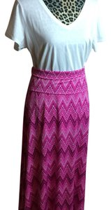LuLaRoe Maxi Skirt Hot pink with design