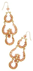 Anthropologie Brownstone Chandelier Earrings