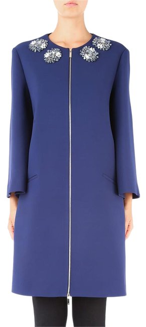 Item - Blue Embroidered Coat Size 4 (S)