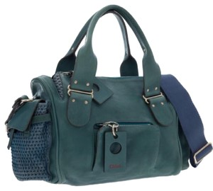 Chloé Rare Leather Satchel in Teal