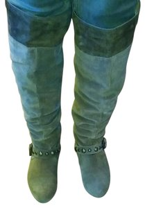 Jessica Simpson Suede Light brownish-greenish, knee lenth boots. Boots