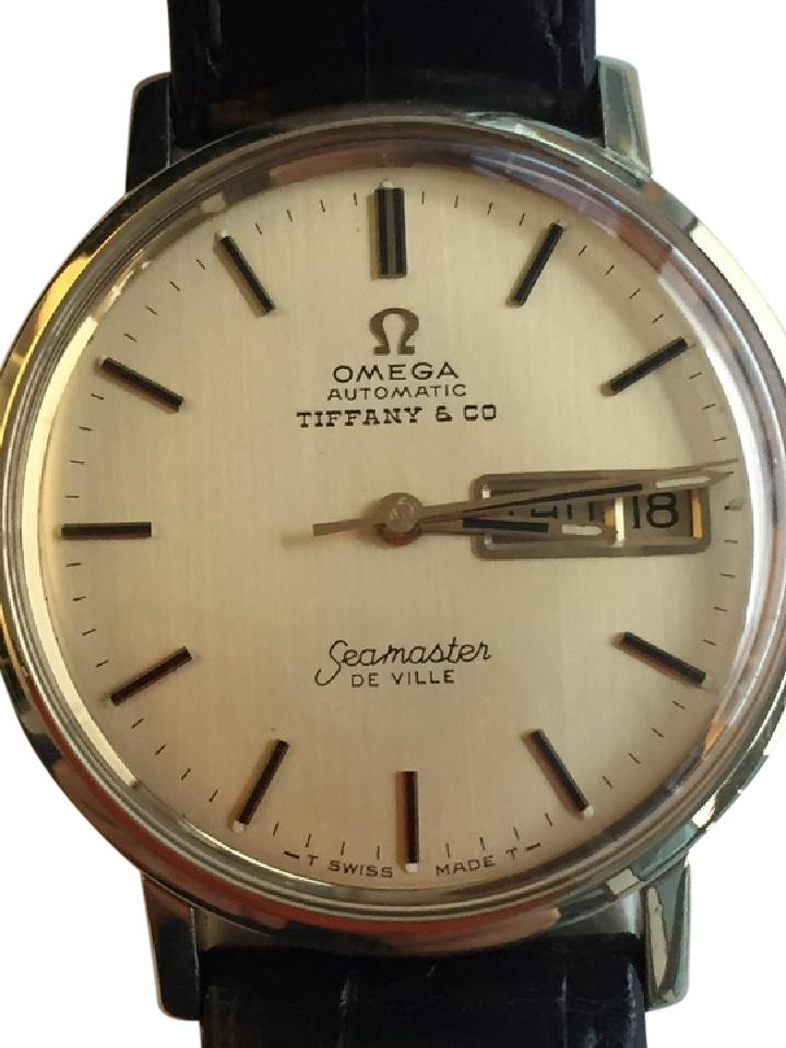 50aabc683f9 Omega Omega Seamaster DeVille Tiffany   Co Dial Vintage 14K Yellow Gold  Mens Image 0 ...