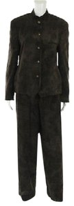 Emporio Armani Vintage Emporio Armani Vintage Brown Dyed Wool Casual Pant Suit
