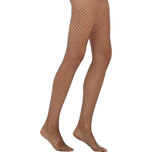 Wolford Red Fishnet Tights