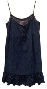 Juicy Couture short dress blue Cotton Linen Eyelet Denim on Tradesy