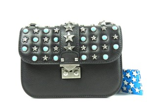 Valentino Rocklock Star-studded Studded Shoulder Bag