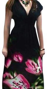 black pink green Maxi Dress by Desigual