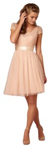BHLDN Bridesmaid Feminine Blush Lace Dress
