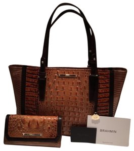 Brahmin Tote in Toasted Almond Bengal