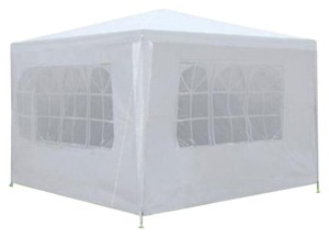 10' X 10' White Event Canopy Tent Gazebo Pavilion With Removable Walls
