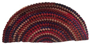 Handmade straw clutch from Brazil multicolor Clutch