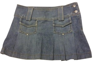 Juicy Couture Mini Denim Mini Skirt Light Denim
