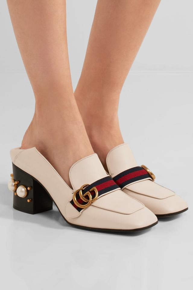 fed3c1ed Gucci White New Gg Leather Mid-heel Loafer Mules/Slides Size US 12 Regular  (M, B) 11% off retail