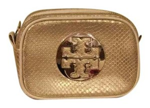 Tory Burch Like New!!! Tory Burch Leather Snakeskin Embossed Cosmetic Bag