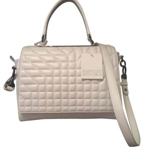 Badgley Mischka Satchel in off white