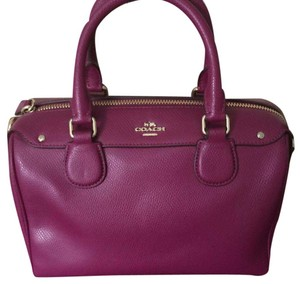 Coach Satchel in Berry Plum
