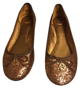 Tory Burch Bronze/Gold/Brown Flats