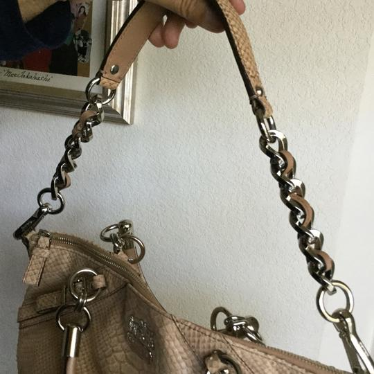 Coach Cowleather Satchel in Tan