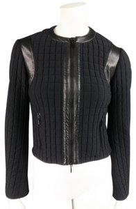Plein Sud Moto Leather Biker Matte Crewneck Motorcycle Jacket