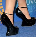 Giuseppe Zanotti Curved Suede Peep Toes Ankle Strap Black Wedges Image 11