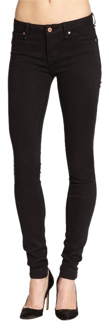 Item - Black Dark Rinse Stick with Ruched Ankle Skinny Jeans Size 31 (6, M)