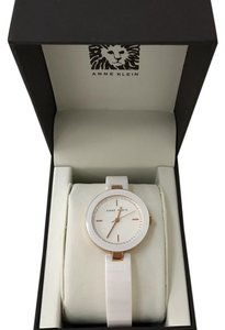 Anne Klein anne klein women's watch white ceramic swarovski