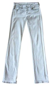 7 For All Mankind Skinny Silver Washed Straight Leg Jeans-Light Wash