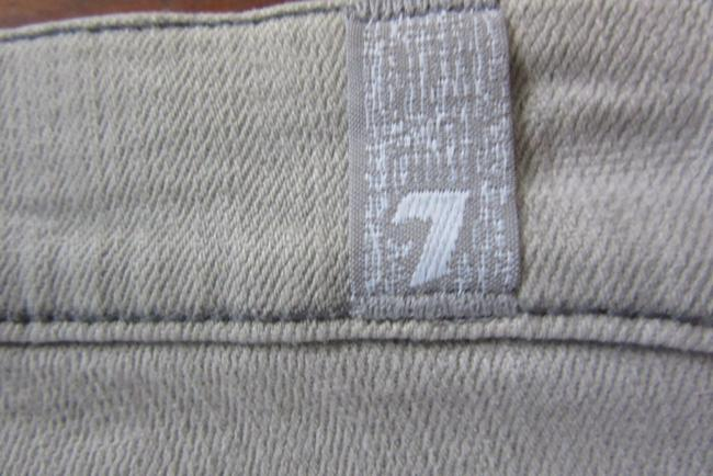 7 For All Mankind Skinny Silver Washed Straight Leg Jeans-Light Wash Image 5